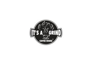 maxart advertising agency in dubai digital marketing in dubai it's a grind coffee house logo