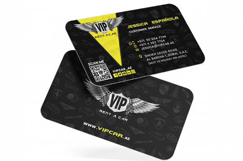 VIP Rent A Car – Business Cards